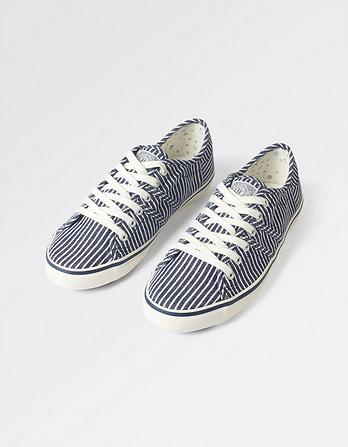 Easton Stripe Lace Up Trainers