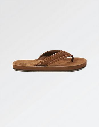 Burcott Suede Flip Flops