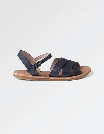Exton Leather Flat Sandals