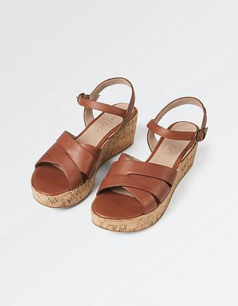 Exton Leather Wedge Sandal
