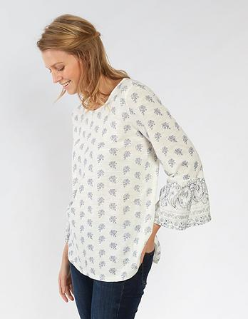 Ellery Woodblock Paisley Top