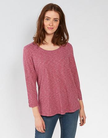 Lauren Stripe 3/4 Sleeve T-Shirt