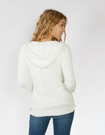 Beth Organic Cotton Textured Hoody