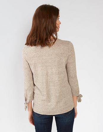 Organic Cotton Talia Tie Sleeve Sweater