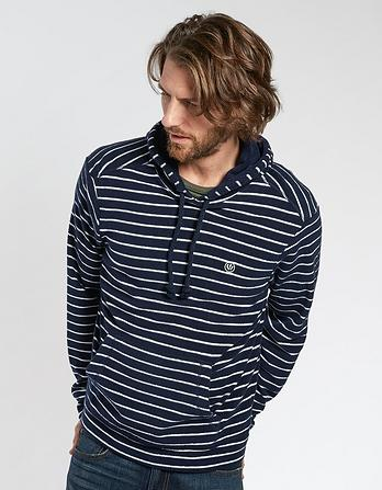 Towelling Stripe Hoody
