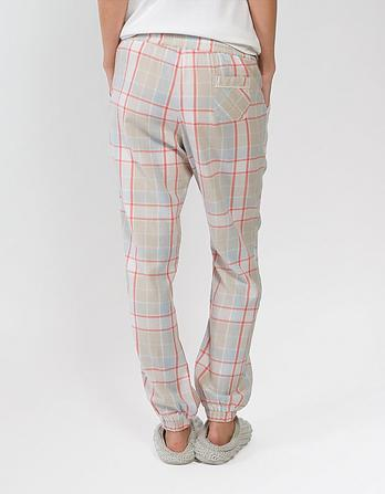 Check Cuffed Lounge Pants