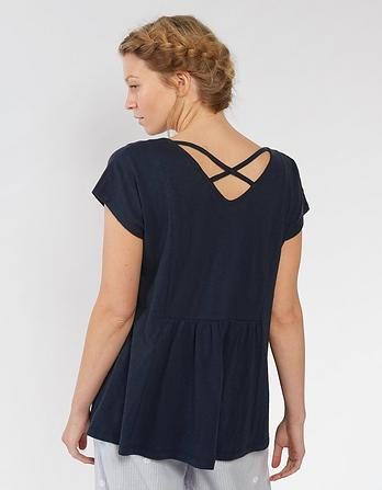 Lace Peplum T-Shirt