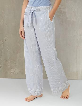 Broderie Stripe Lounge Pants