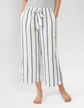 Rayon Stripe Lounge Culottes