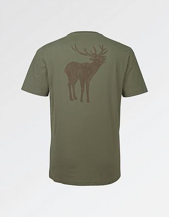 Stag Pocket Organic Cotton Graphic T-Shirt