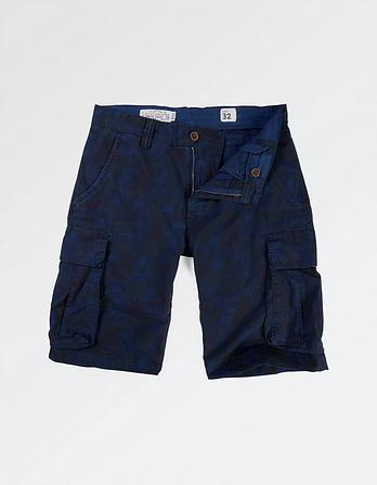 Ripstop Printed Cargo Shorts