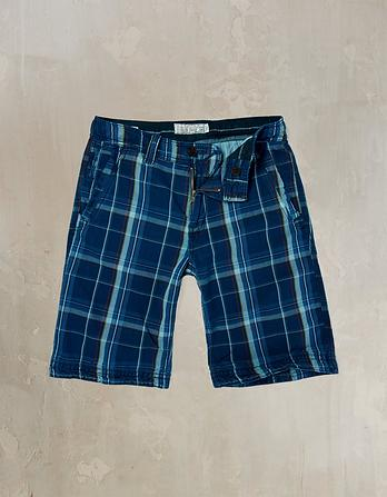 Check Cove Flat Front Shorts