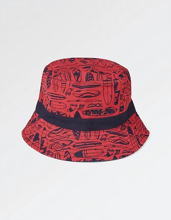 Surfboard Print Bucket Hat