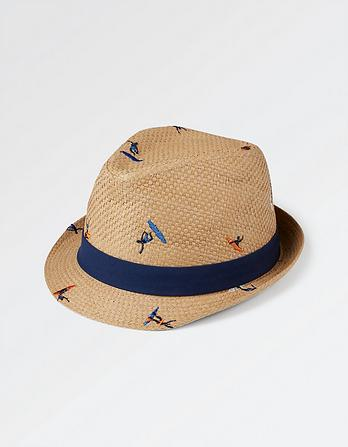 Surfer Embroidered Trilby