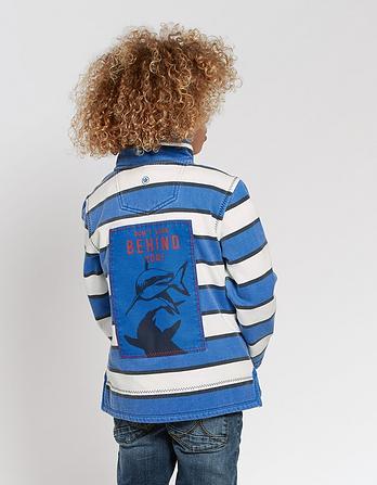 Jamie Stripe Half Neck Sweatshirt