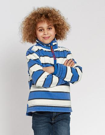 Jamie Stripe Half Neck Sweat