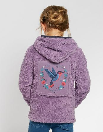 Hummingbird Graphic Popover Fleece