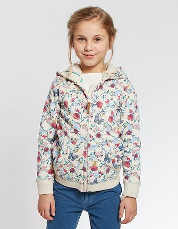 Butterfly Print Zip Thru Hoody