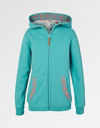 Butterfly Graphic Zip Thru Hoody