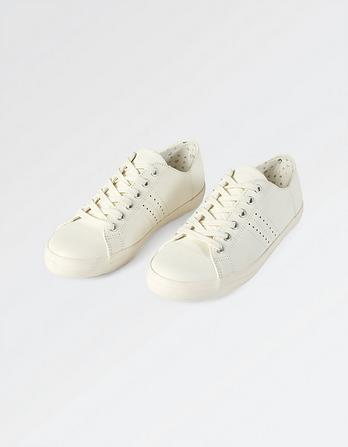 Weston Leather Lace Up Trainers