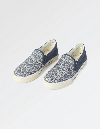 Stoneby Floral Slip On Trainers