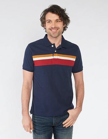 Hebden Organic Cotton Stripe Polo