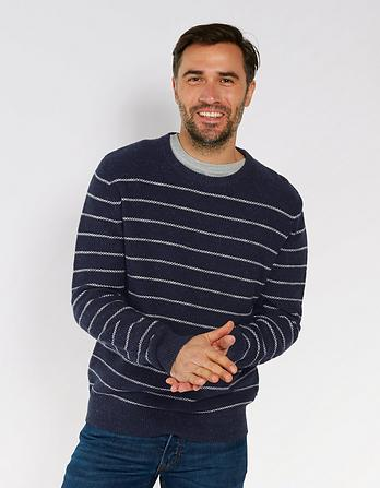 Amble Stripe Textured Jumper