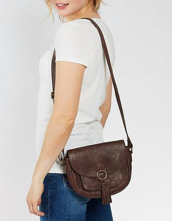 Sienna Leather Saddle Bag