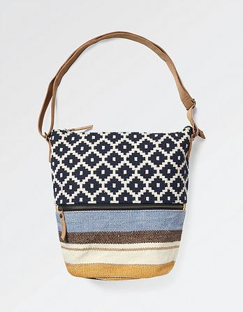 Tia Woven Geo Cross Body Bag