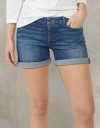 Mid Wash Denim Shorts