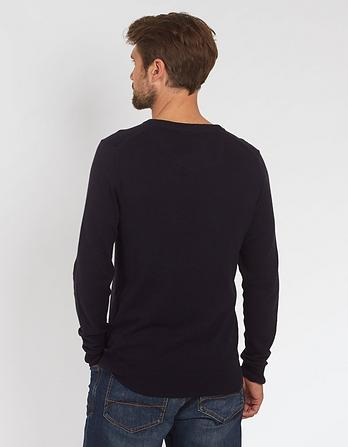 Cotton Cashmere Crew Neck Jumper