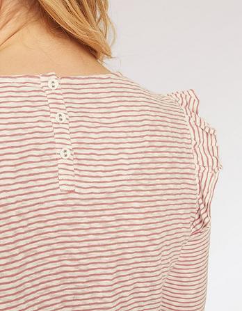 Melba Stripe Frill Top