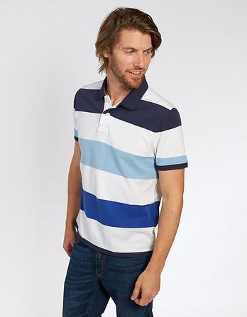 Binsted Organic Cotton Stripe Polo