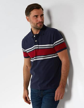 Chawton Organic Cotton Stripe Polo