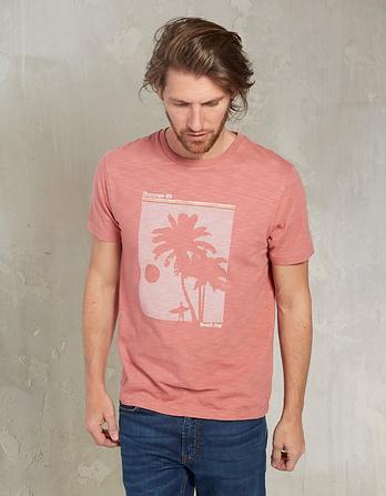 Palm Trees Organic Cotton Graphic T-Shirt
