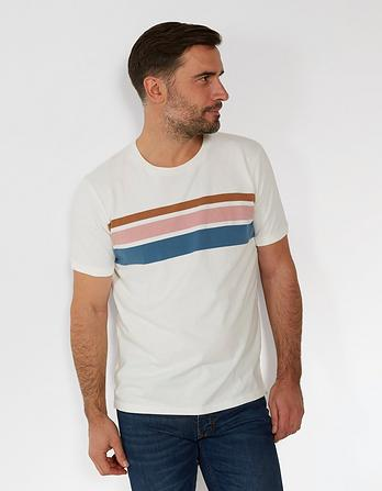 Selborne Stripe Organic Cotton T-Shirt