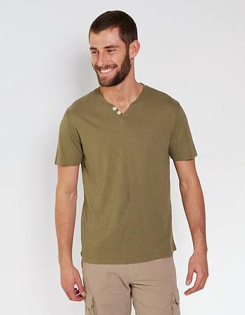 Lowick Hemp Cotton Notch Neck T-Shirt