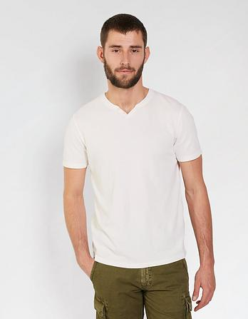 Lowick Hemp Cotton Notch Neck T-Shirt