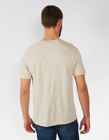 Lowick Hemp Cotton Notch Neck T Shirt