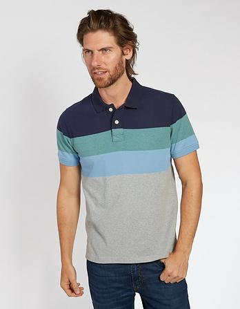 Frimley Organic Cotton Stripe Polo
