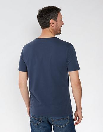 Wave Scene Organic Cotton Graphic T Shirt
