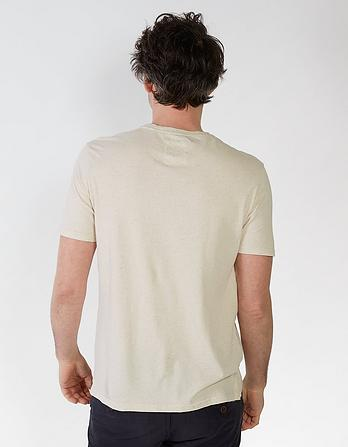 Chiswick Cotton Linen Crew Neck T-Shirt