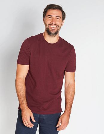Chiswick Cotton Linen Crew Neck T-Shirt