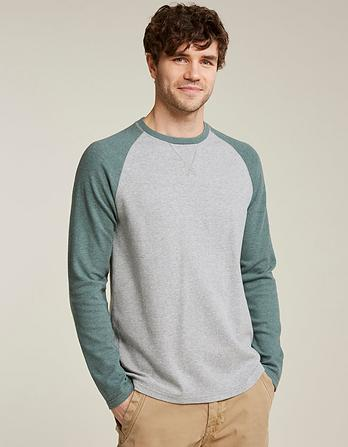 Pique Raglan Organic Cotton T-Shirt
