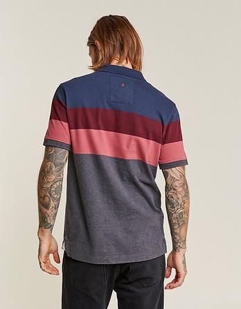 Cubert Stripe Organic Cotton Polo