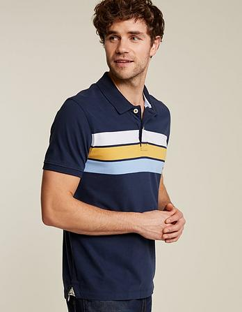 Hayle Chest Stripe Organic Cotton Polo