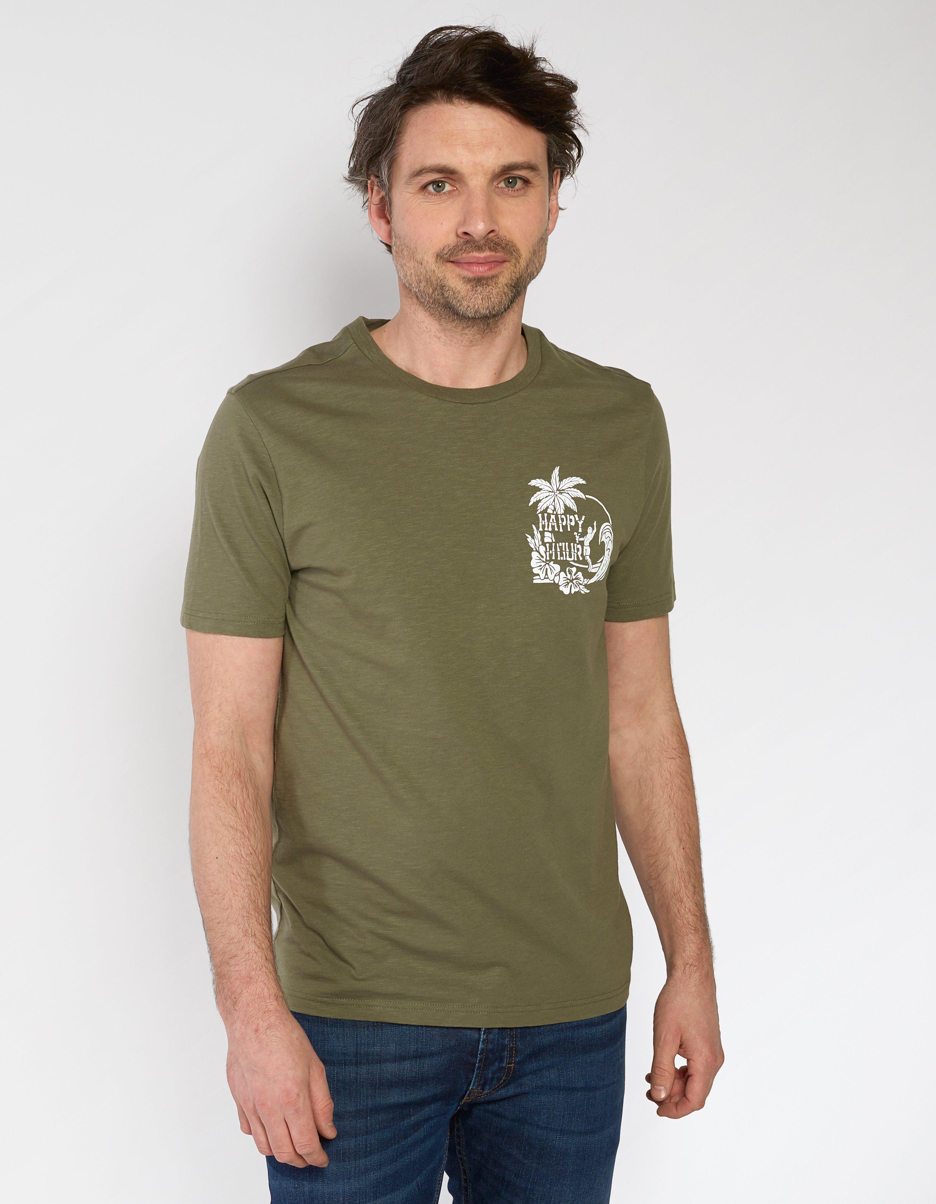 Happy Hour Organic Cotton Graphic T Shirt