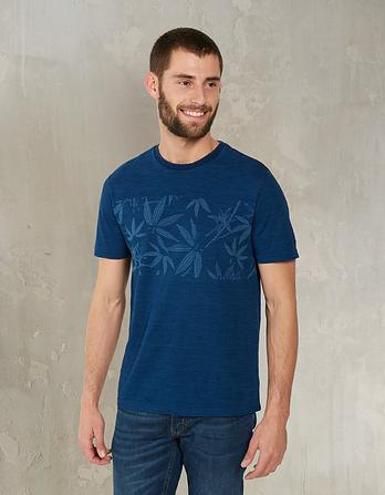 Indigo Bamboo Chest Graphic T-Shirt
