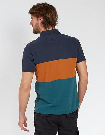 Ketford Color Block Organic Cotton Polo