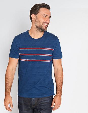 Indigo Chest Stripe T-Shirt